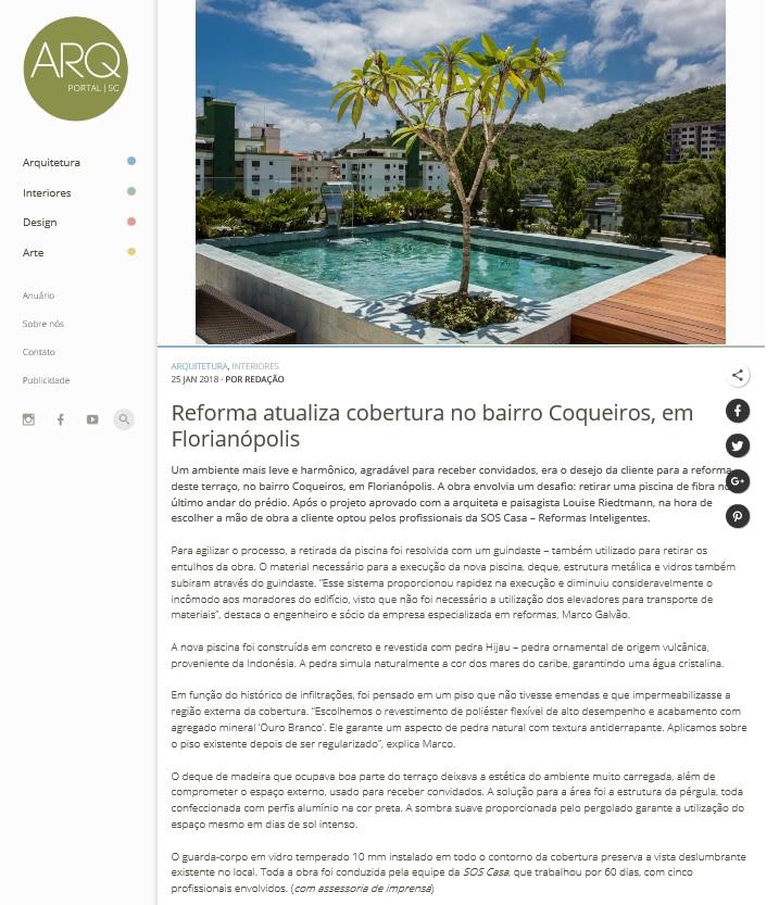Reforma atualiza cobertura em Coqueiros